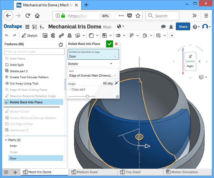 3D Printed Mechanical Iris Dome All-One-Piece | Eleccelerator