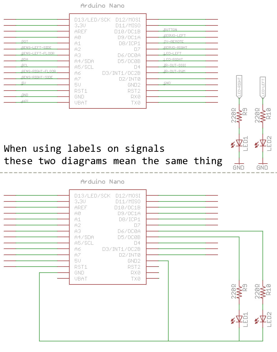 Our Robots Circuit Led Circuits And Schematics For The Hobbyist Sparkfun Has Their Own Page About Reading It Is More In Depth You Do Not Have To Memorize Symbols Right Now But Does List A